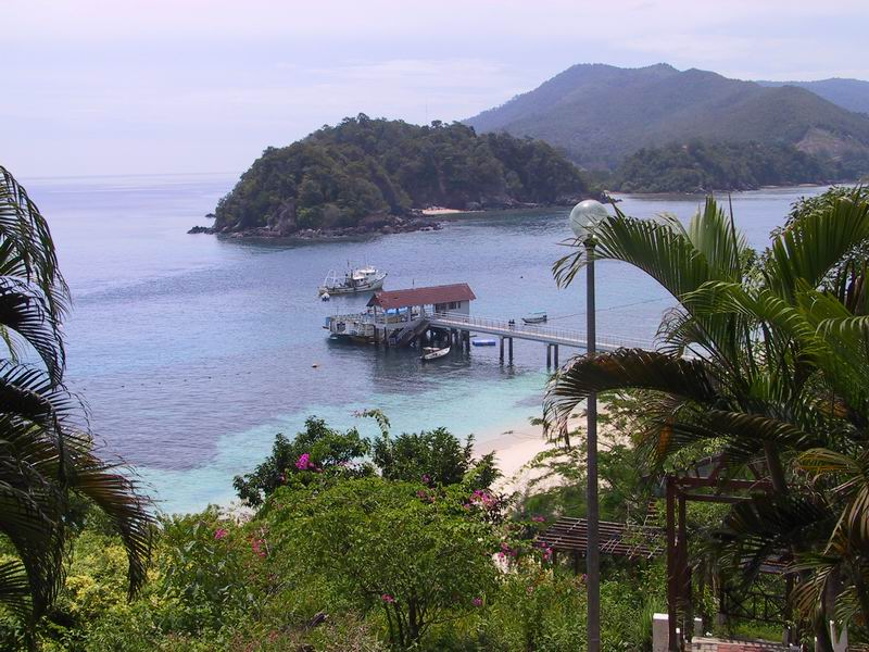 View of jetty at the Pulau Redang Marine Park Center